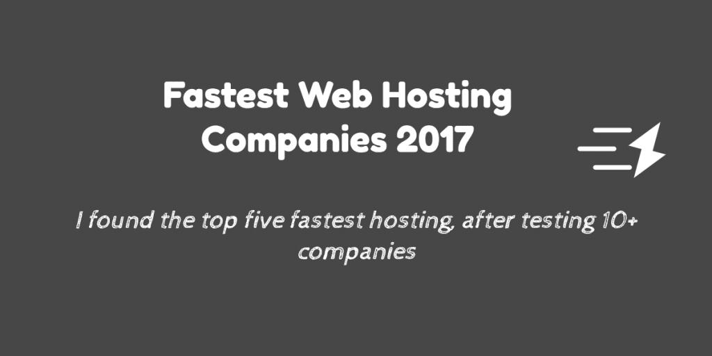fastest web hosting