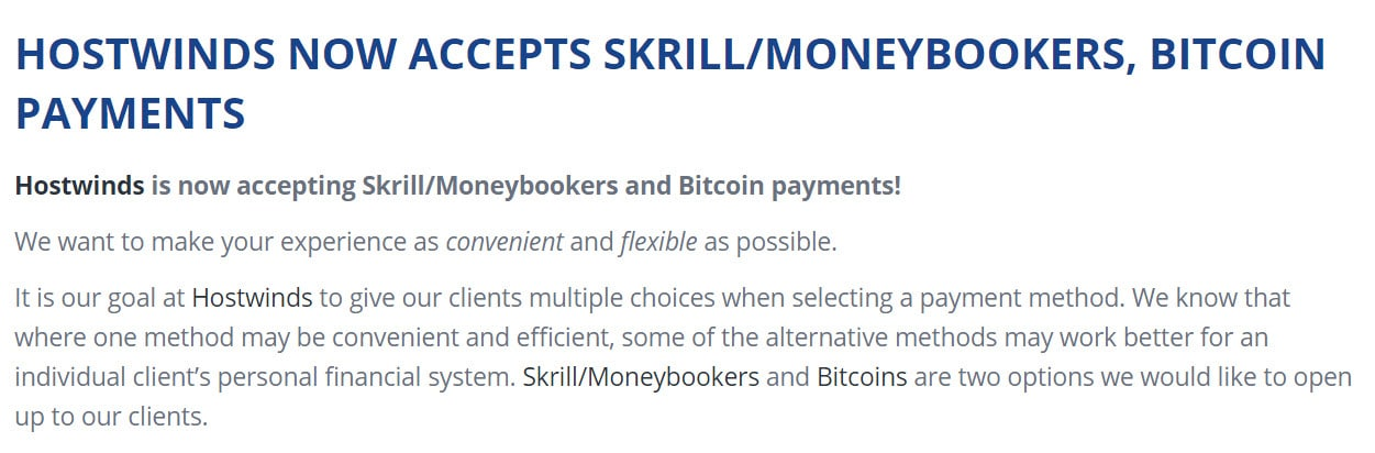 Web Hosting Companies That Accept Bitcoin Payments (2018) 1