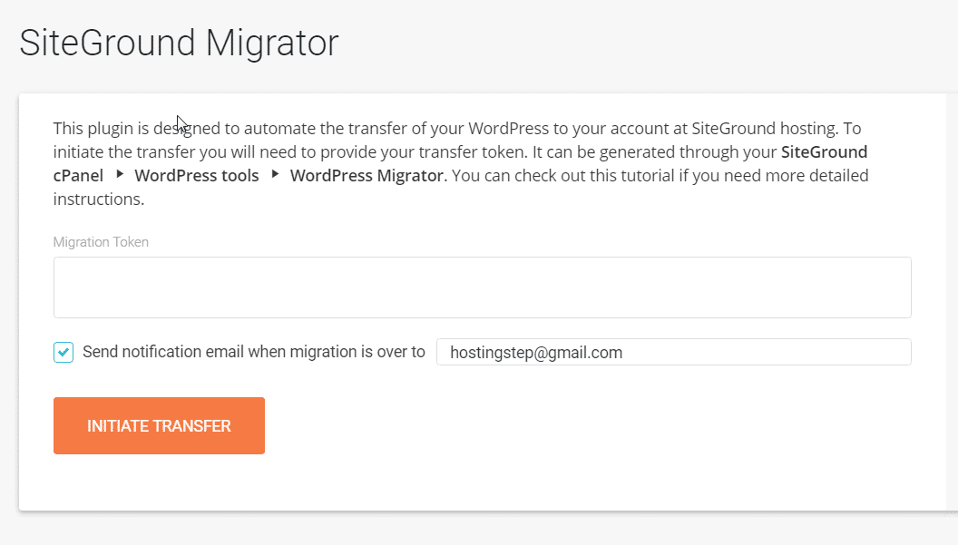 How to Migrate WP Sites Using SiteGround Migrator Plugin 2