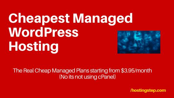 Cheapest Managed WordPress Hosting