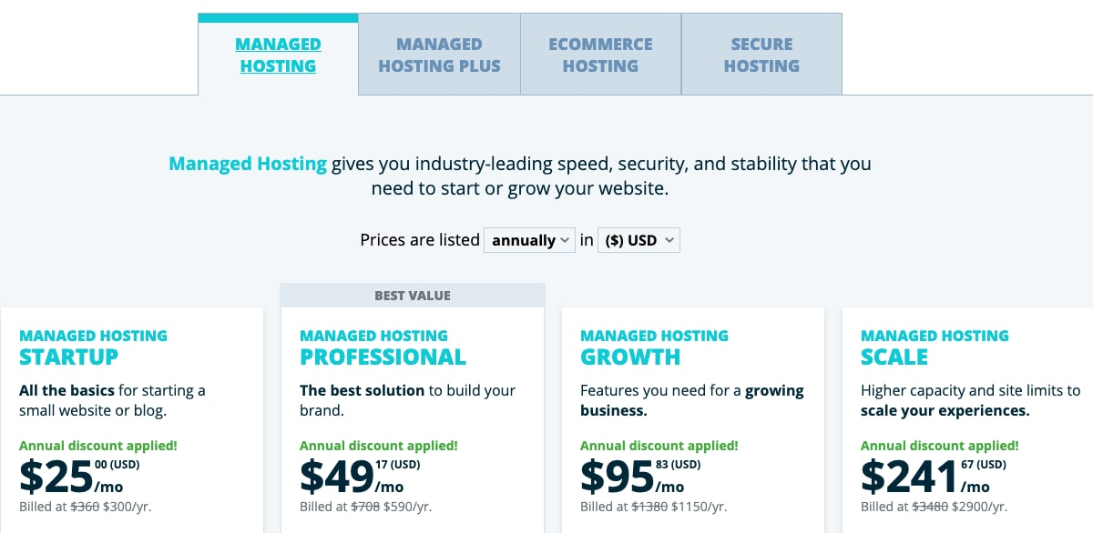 WP Engine Plans and Pricing